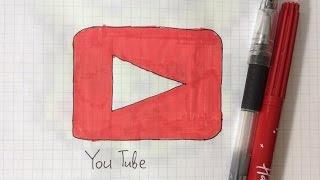 Урок #3. Как нарисовать кнопку YouTube по клеточкам.