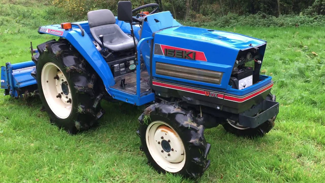 Iseki 287 Compact 4wd Tractor With Rotavator Youtube