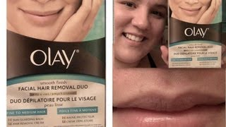 Review & Demo: New Olay Smooth Finish Facial Hair Removal Duo! (Get Rid of Upper Lip Hair!)