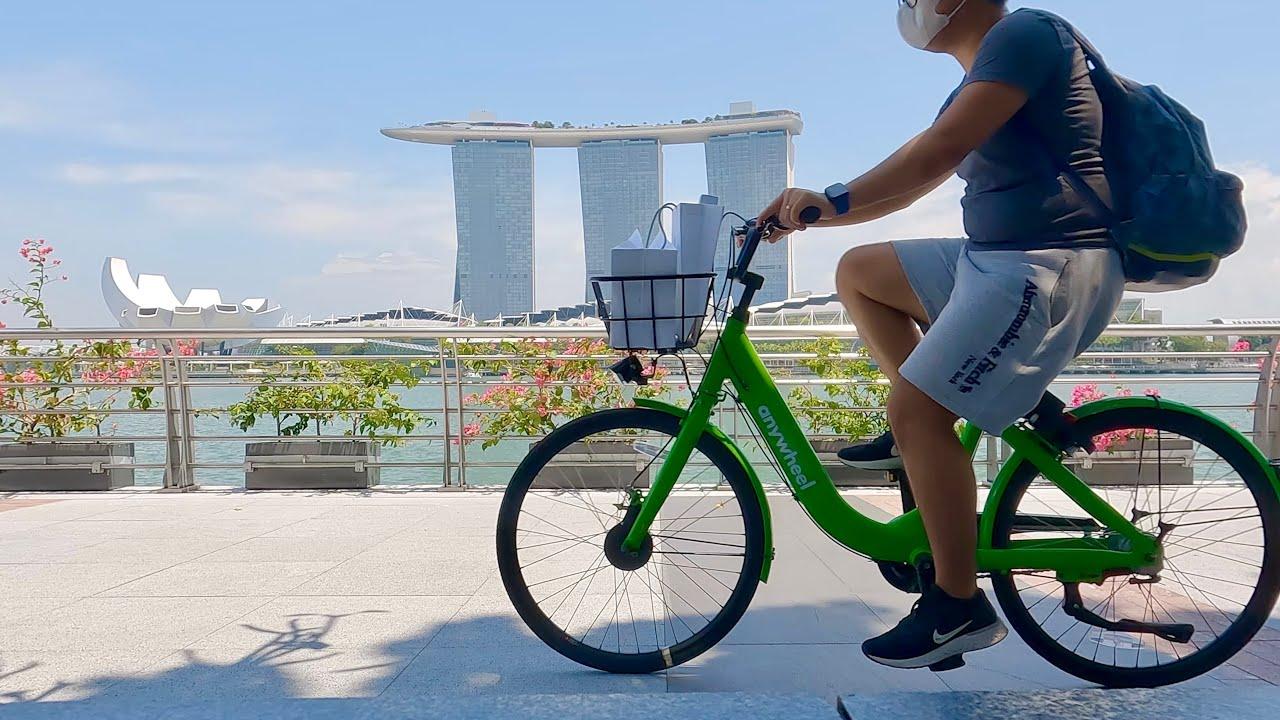 Cobain Sepeda SEWAAN di Singapura...