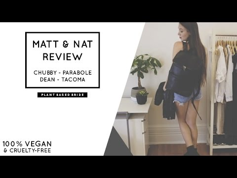 MAT & NAT REVIEW // CHUBBY - PARABOLE - DEAN - TACOMA // FAVOURITE VEGAN BAGS // PLANT BASED BRIDE