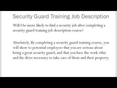 Security Guard Training Job Description - YouTube