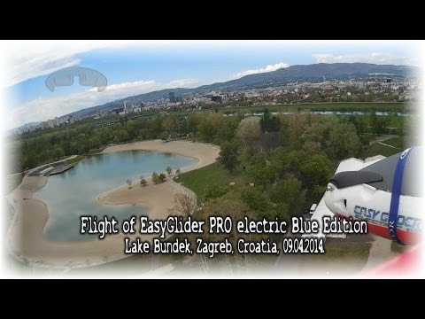 Flight of EasyGlider PRO electric Blue Edition (Lake Bundek, Zagreb, Croatia, 09.04.2014.)