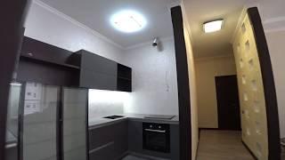 Кухня из МДФ и Алюминиевые Рамки . Фурнитура BLUM VIBO . Столешница Искусственный Камень Обзор Кухни