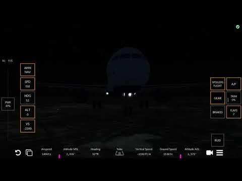 Infinite Flight - JetBlue a321 Near Tailstrike Nighttime Landing at Columbia (KCAE)