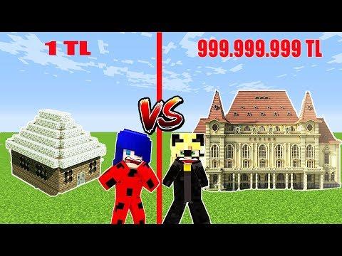 1TL OKUL Vs 999,999,999TL OKUL 😅 Minecraft