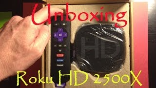 Unboxing Roku HD 2500X - Video Streaming Player