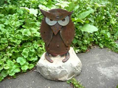 Good Recycled Junk Metal Folk Art Sculptures In Sodus, MI