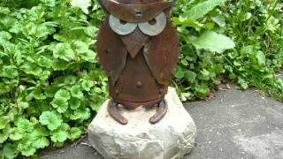 Recycled Junk Metal Folk Art Sculptures In Sodus, Mi