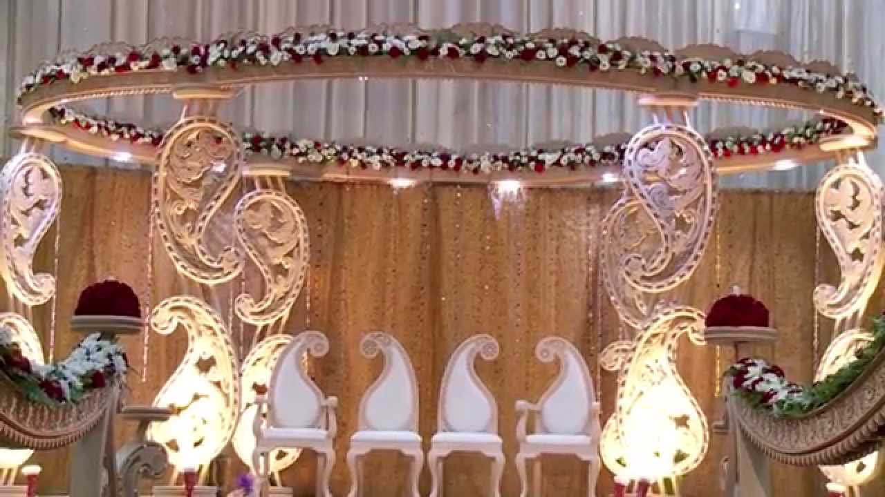 Indian Wedding Mandap Decoration - YouTube