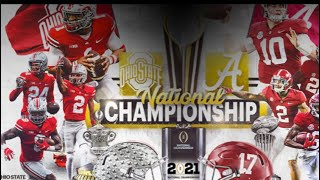 2021 College football National Championship prediction Ohio State vs Alabama