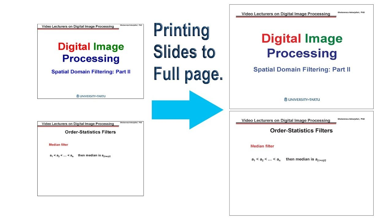 How to print powerpoint slide on a full page