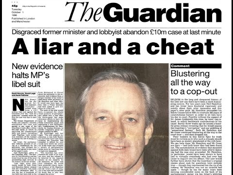 Cash for Questions 46: The Guardian's lies that Neil Hamilton had lied