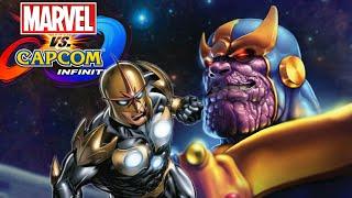 Marvel Vs Capcom: Infinite Nova and Thanos Character Dialogue and End Battle Quotes