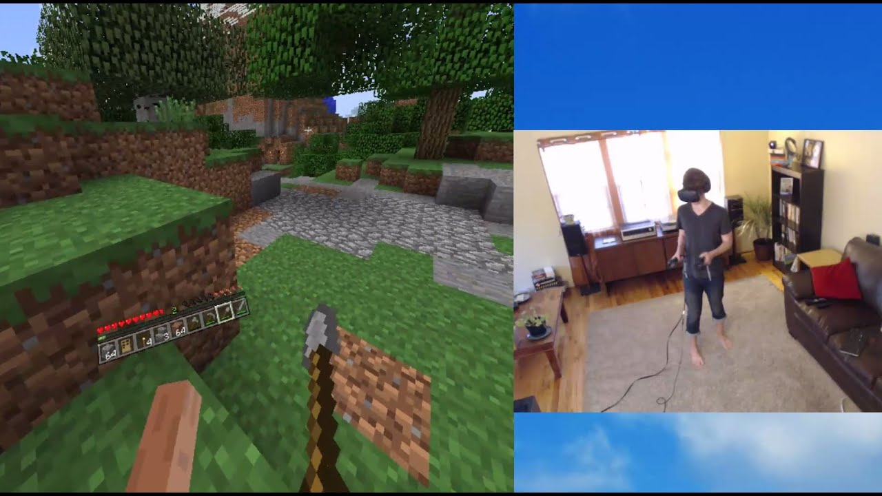 Kotaku Plays Minecraft In HTC Vive VR