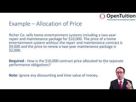 Revenue - allocation - ACCA Financial Reporting (FR)