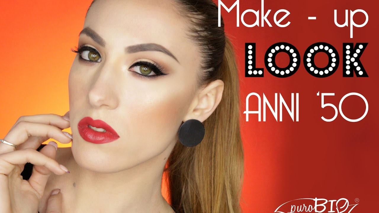 Ben noto Make-up look anni '50 - tutorial - YouTube RA59