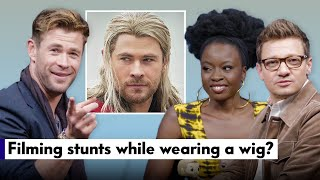 "Chris Hemsworth, Jeremy Renner, & Danai Gurira Answer ""Avengers"" Fan Questions 