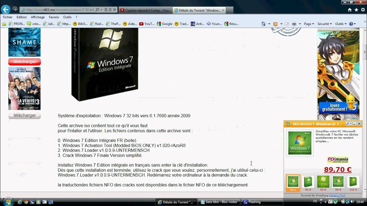 windows loader 2.1 pour windows 7 edition integrale