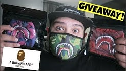 I BOUGHT BAPE MOUTH MASK CAMO SHARK ON EBAY! BATHING APE MASK GIVEAWAY!