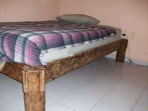 Как сделать кровать из бревна своими руками. Деревянная кровать своими руками.