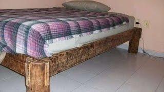 Как сделать кровать из бревна своими руками. Деревянная кровать своими руками.(, 2015-05-14T16:10:32.000Z)