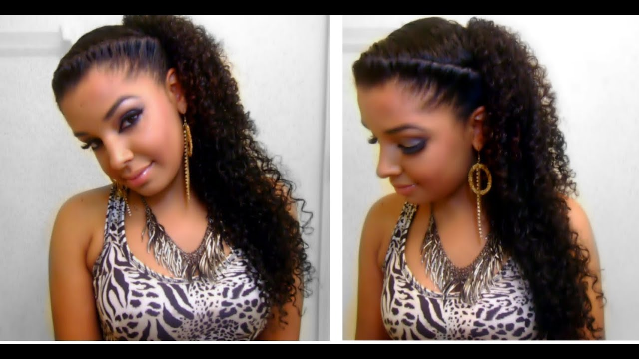 How To : Easy Quick Cute Twist Side Natural Curly Hairstyle ...