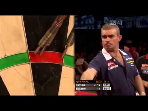 Steve Beaton great comeback vs Phil Taylor - Grand Slam Of Darts 2010