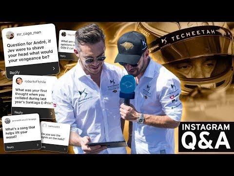 #Jeandre Q&A | Jean Éric Vergne & André Lotterer answer your questions | DS TECHEETAH