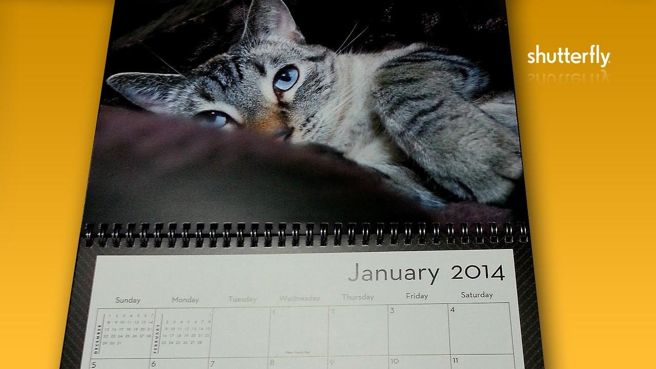 Shutterfly Custom Photo Calendar A Great Gift Option Youtube