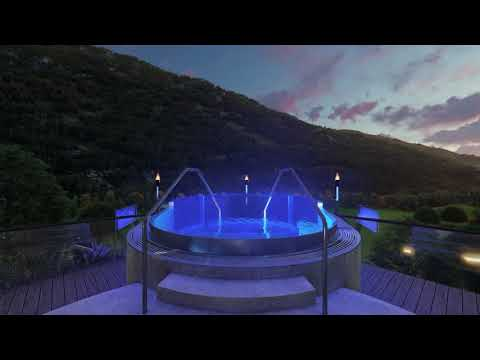 News 2021 - Rooftop Spa with relax area, finnish panorama sauna, fire place & sky pool