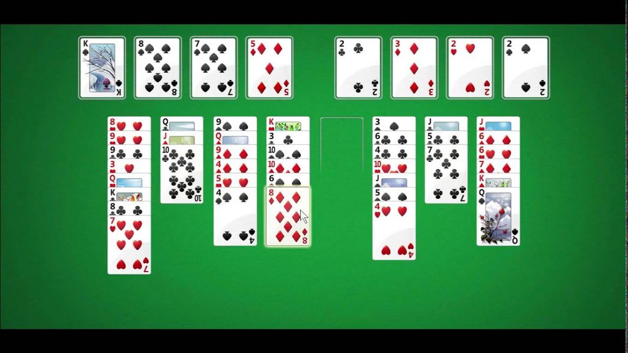 как карты играть солитер