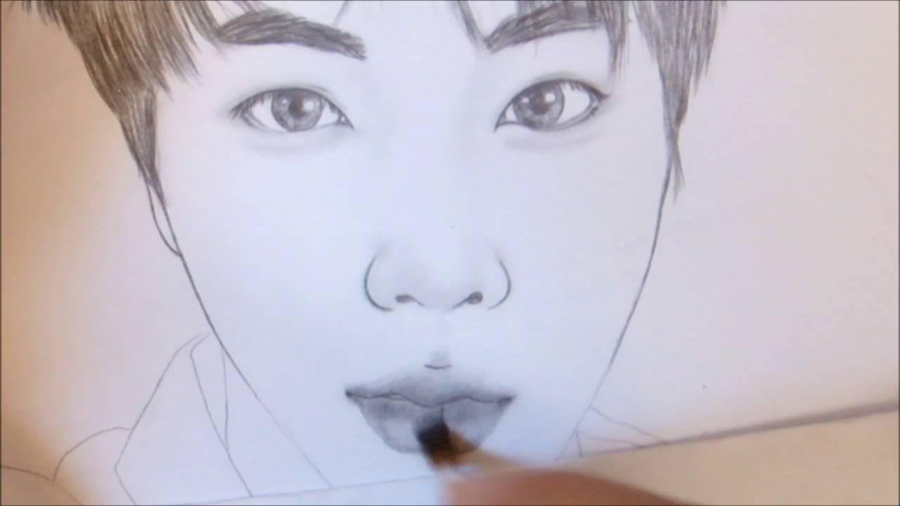 방탄소년단 Bts 진 Jin Speed Drawing Youtube