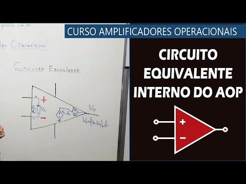 Circuito Operacional : Circuito equivalente interno do aop youtube