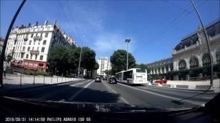 philips adr810 dashcam demo video recording 1080p