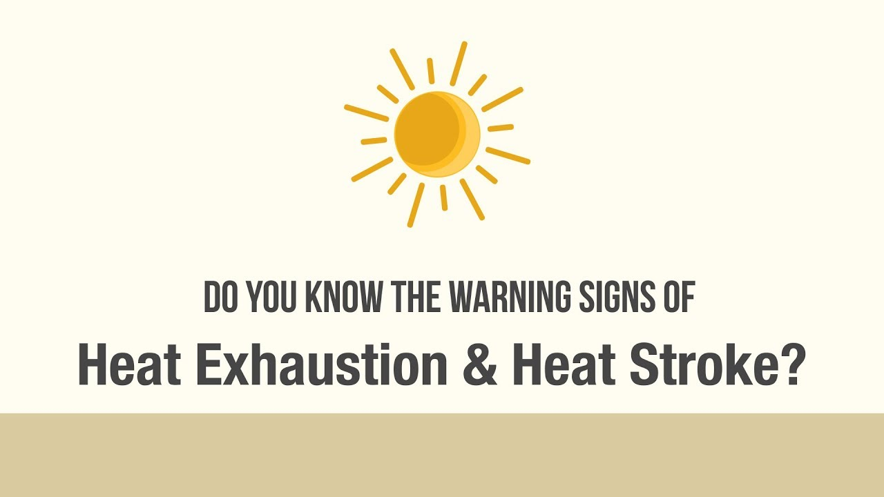 Image result for heatstroke and heat exhaustion