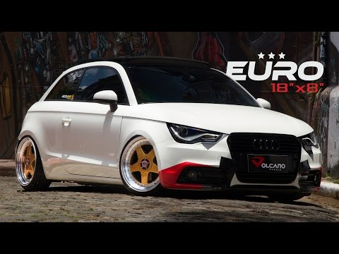 FULL - Audi A1 bagged Accuair with Wheels Volcano Euro