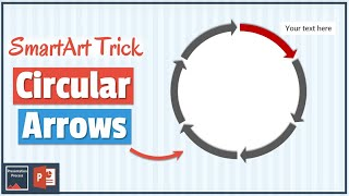 Wie erstellen Sie Kreisförmige Pfeile in PowerPoint mit SmartArt
