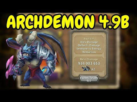 Archdemon L Deflects Damage Immune To Energy Reduction L 4.9B L Castle Clash