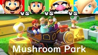Mario Party 10 Mushroom Park Mario vs Luigi vs Wario vs Rosalina