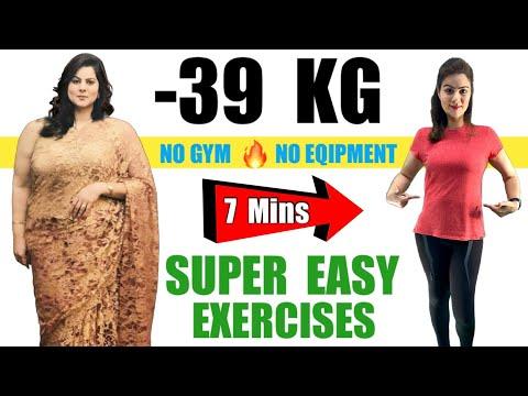 Simple Exercises To Lose Weight At Home   वजन और पेट की चर्बी घटाएं सिर्फ 7 मिनट में – Natasha Mohan