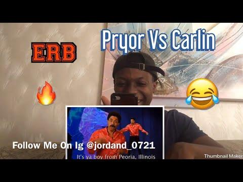 George Carlin vs Richard Pryor. Epic Rap Battles of History Reaction !!!