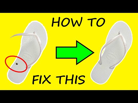 Quickest Way To Fix Sandal | How To Repair a Flip Flop – DIY 2020