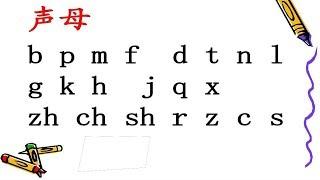 ភីងអីង អំពីព្យញ្ជនៈ  Chinese Pinyin-Initials