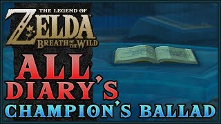 ALL CHAMPION DIARY'S | The Legend of Zelda: Breath of the Wild - The Champions Ballad