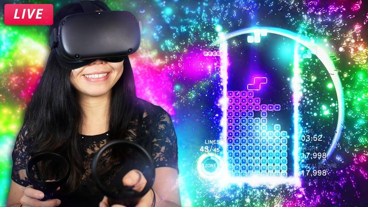 MORE THAN JUST TETRIS - Tetris Effect on Oculus Quest Gameplay!