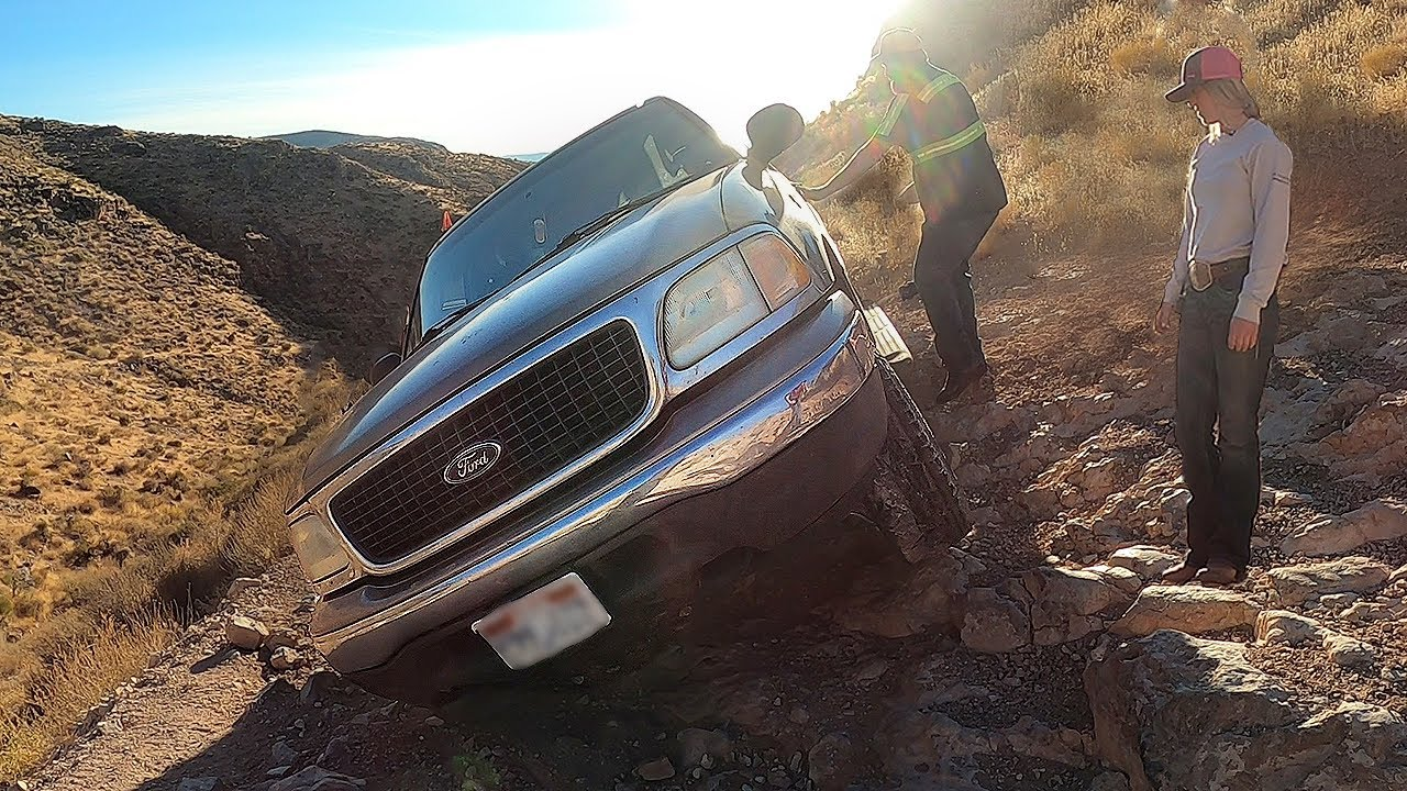 Way Too Dangerous Of A Trail For This Ford Truck!