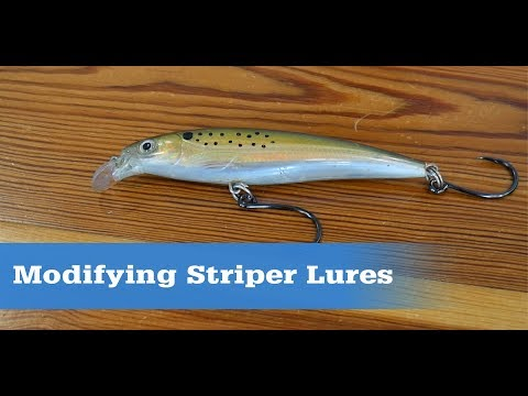 Inline Single Hooks On Striper Plugs