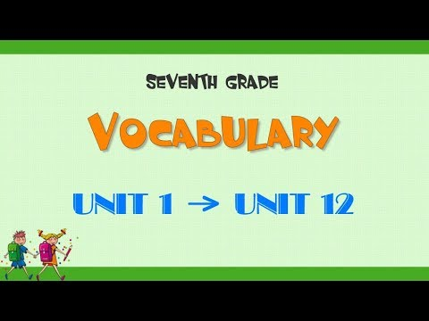 Từ vựng tiếng Anh lớp 7 –  Chương trình mới – Trọn bộ 12 bài