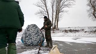 Зимова рибалка на р. Цимла. Відпочинок з ночівлею в колі друзів. С. Нижнегнутов